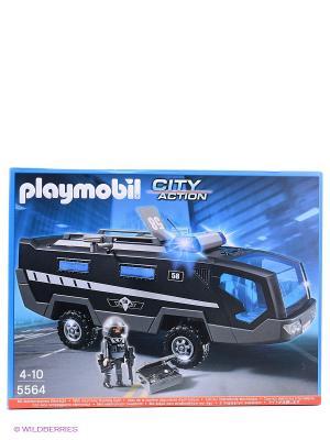 Полиция Машина специального назначения со светом и звуком Playmobil. Цвет: голубой