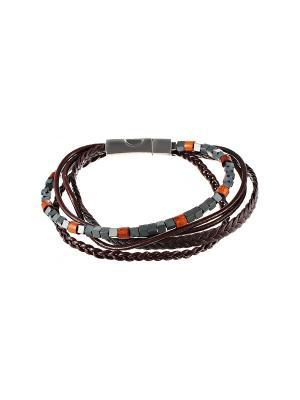 Браслет ELEMENT47 by JV. Цвет: коричневый, светло-коричневый, темно-серый