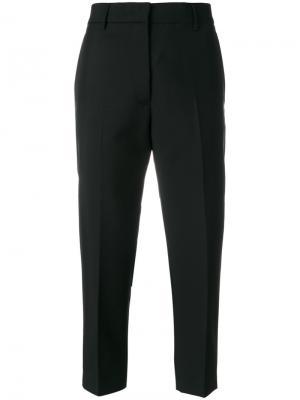 Зауженные строгие брюки Jil Sander. Цвет: чёрный