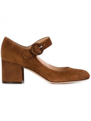 Туфли Мэри-Джейн Gianvito Rossi. Цвет: коричневый
