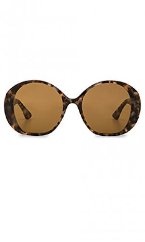 Солнцезащитные очки sun city Wonderland. Цвет: коричневый