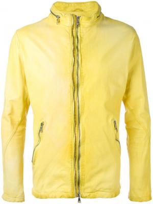 Куртка на молнии Giorgio Brato. Цвет: жёлтый и оранжевый