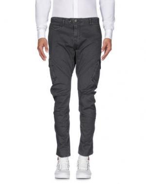 Повседневные брюки QUINTESSENCE. Цвет: стальной серый