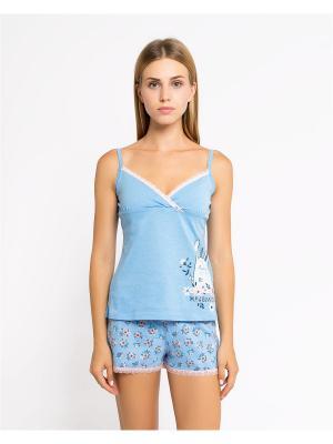 Пижама Mark Formelle. Цвет: голубой, персиковый