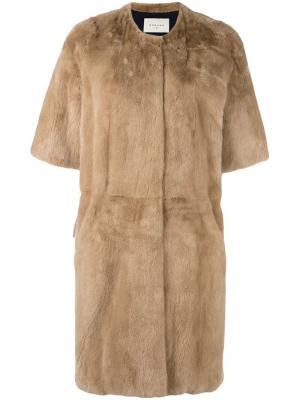 Пальто Aris из меха норки Sprung Frères. Цвет: телесный