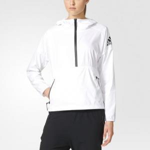 Ветровка  Z.N.E. adidas. Цвет: белый