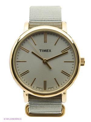 Часы TIMEX. Цвет: оливковый, золотистый