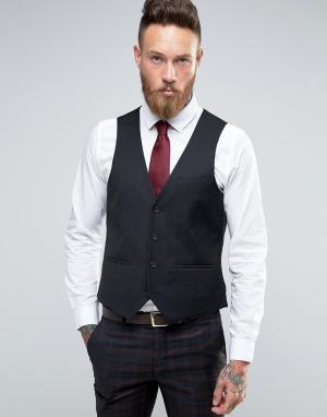 Harry Brown Черный приталенный жилет. Цвет: красный