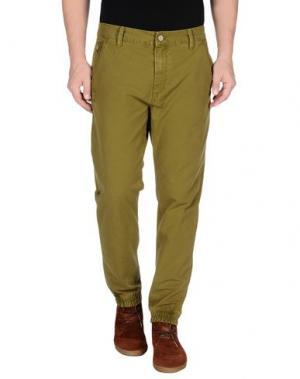 Повседневные брюки ROCK 'N' ROLL. Цвет: зеленый-милитари