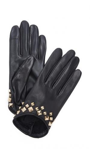 Перчатки Josiepyramide для использования смартфонов Agnelle. Цвет: голубой
