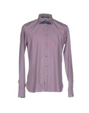 Pубашка AGLINI. Цвет: красно-коричневый