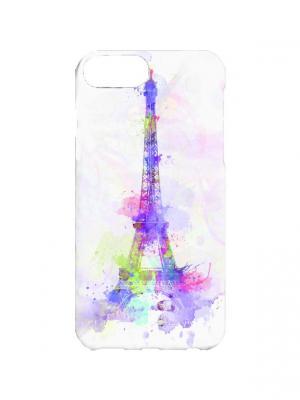 Чехол для iPhone 7Plus Париж в нежных красках Арт. 7Plus-122 Chocopony. Цвет: сиреневый, белый