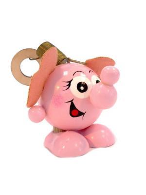 Игрушка подвеска на пружине  - Слоник розовый Taowa. Цвет: розовый