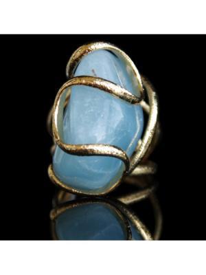 Кольцо Andrea Marazzini. Цвет: золотистый, голубой