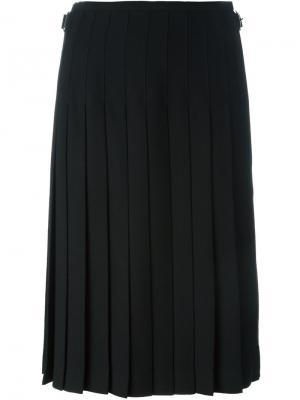 Плиссированная юбка Le Kilt. Цвет: чёрный