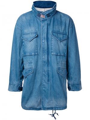 Джинсовая куртка свободного кроя monkey time. Цвет: синий