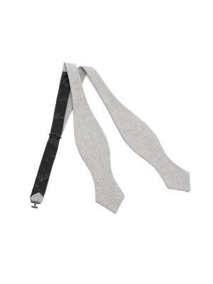 Галстук-бабочка Churchill accessories. Цвет: серый, темно-серый, темно-бежевый, бежевый