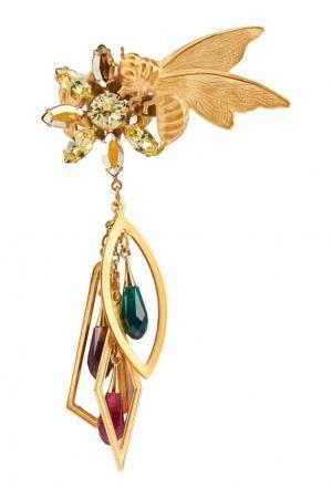 Кольцо с подвесками Rodarte. Цвет: золотой