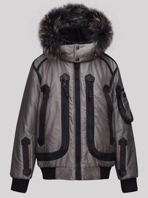 Куртка RadRada. Цвет: темно-серый