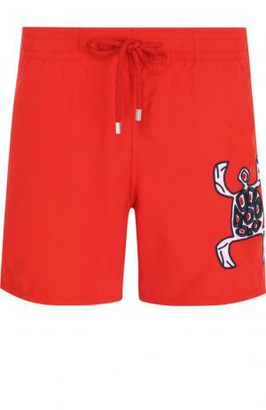 Плавки-шорты с аппликацией Vilebrequin. Цвет: красный