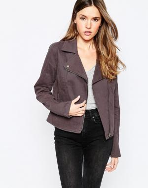 RVCA Байкерская куртка. Цвет: черный