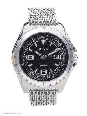 Часы Bora. Цвет: серебристый, черный