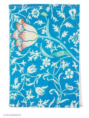 Визитница Тюльпан на синем Mitya Veselkov. Цвет: синий, белый