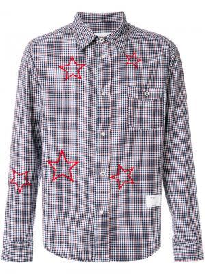 Рубашка в клетку с принтом звезд The Editor. Цвет: чёрный