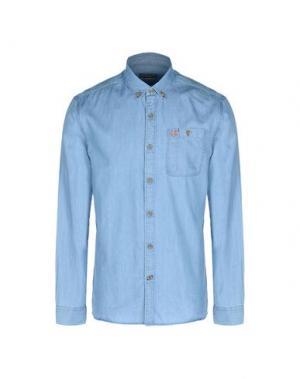 Джинсовая рубашка NAPAPIJRI. Цвет: синий