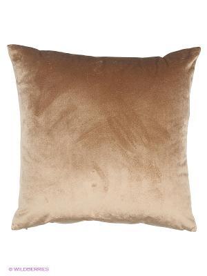 Подушка декоративнаяHaute couture бархат бронза 45х45 см. T&I. Цвет: бронзовый