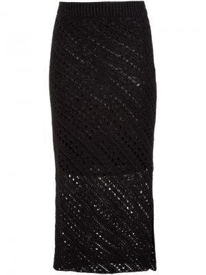 Вязаная юбка-карандаш Altuzarra. Цвет: чёрный