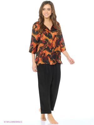 Пижама Del Fiore. Цвет: черный, оранжевый