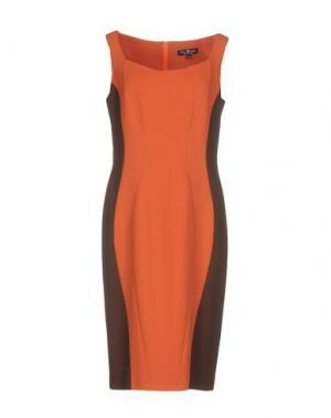 Платье до колена IVAN MONTESI. Цвет: оранжевый