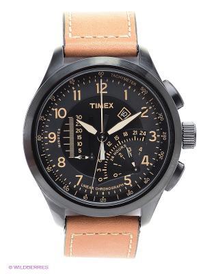 Часы TIMEX. Цвет: коричневый, черный