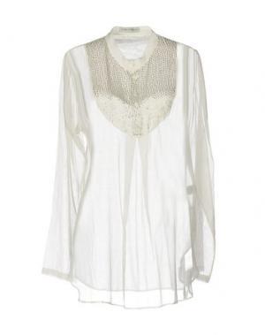 Блузка AMBRE BABZOE. Цвет: белый