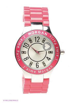 Часы Morgan. Цвет: розовый, серебристый