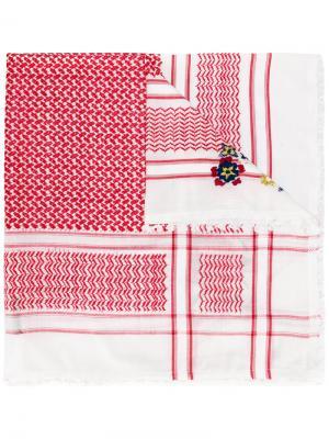 Куфия с вышивкой Bazar Deluxe. Цвет: красный
