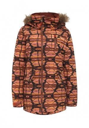 Куртка горнолыжная Burton. Цвет: коричневый