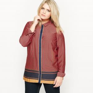 Блузка с рисунком длинными рукавами CASTALUNA. Цвет: рисунок по низу