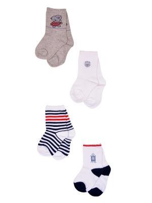 Носки, 4 пары Malerba. Цвет: синий, серый