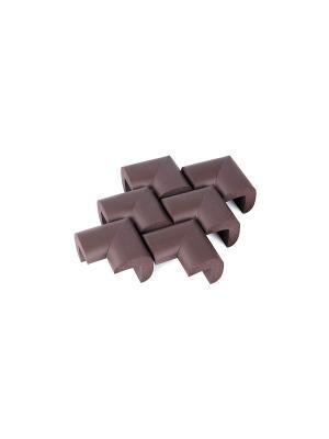 Мягкие накладки на углы 6 шт. ПОМА. Цвет: коричневый