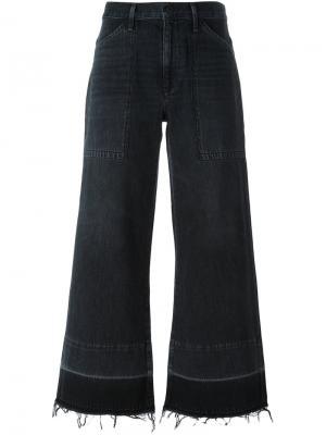 Расклешенные укороченные брюки Citizens Of Humanity. Цвет: чёрный