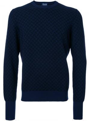 Пуловер с круглым вырезом Drumohr. Цвет: синий