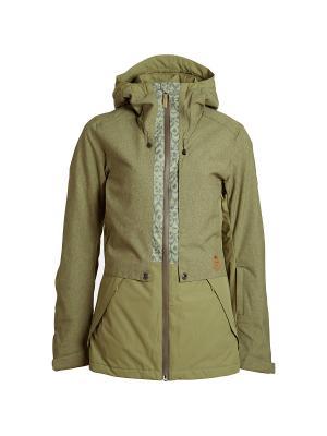 Куртка BILLABONG. Цвет: оливковый