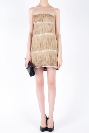 Платье из вискозы Jay Ahr. Цвет: золотой