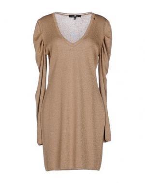 Короткое платье ELISABETTA FRANCHI. Цвет: песочный
