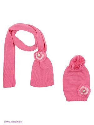 Комплект детский (шапка,шарф) R&I. Цвет: малиновый