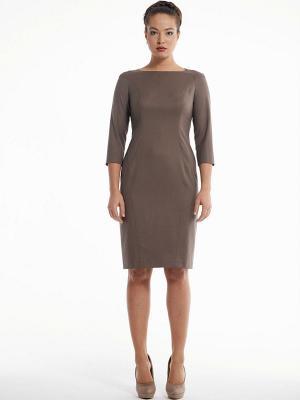 Платье PROFITO AVANTAGE. Цвет: коричневый