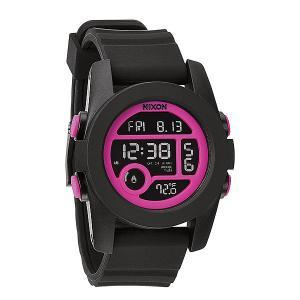 Часы  Unit 40 Black/Magenta Nixon. Цвет: черный,розовый