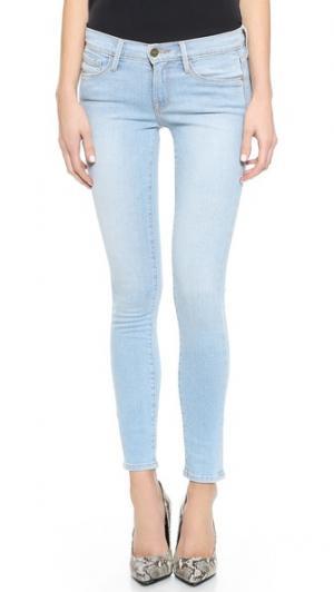 Джинсы скинни Le Skinny de Jeanne FRAME. Цвет: голубой